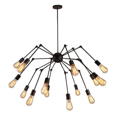 Spider Adjustable Arm Chandelier - Available in 6, 10 & 14 Hanging Pendants