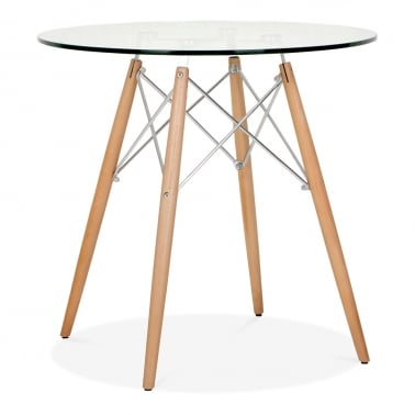 DSW Glass Dining Table - 70cm Diameter