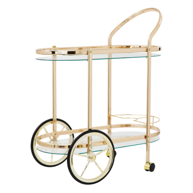 Metal Cocktail Cart - Rose Gold