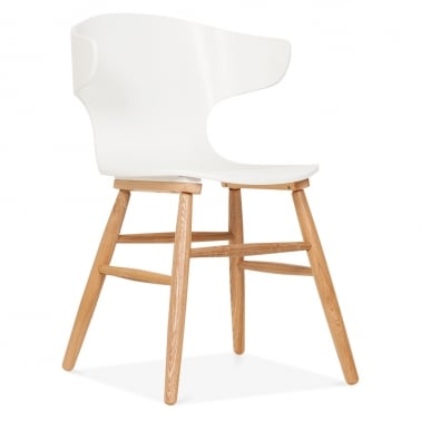 Elin Curved Back Dining Chair - White