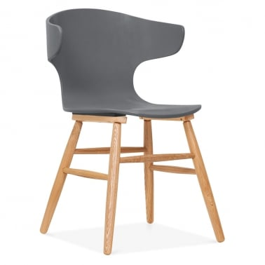Elin Curved Back Dining Chair - Grey