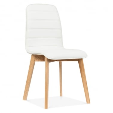 Meyer Faux Leather Dining Chair - White