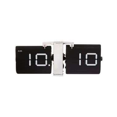 Flipping Out Wall Clock - Black / Silver