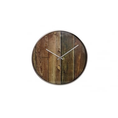 Structure Wood Plank Wall Clock