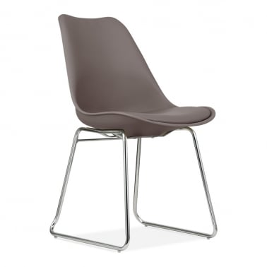 Dining Chair with Soft Pad Seat - Warm Grey