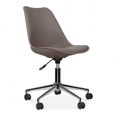 Office Chair With Soft Pad Seat - Warm Grey