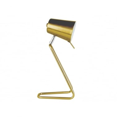Z Style Metal Table Lamp - Brass