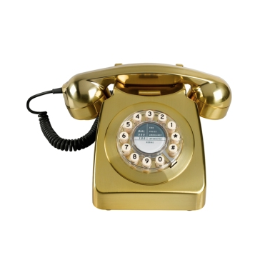 746 Retro Phone - Gold