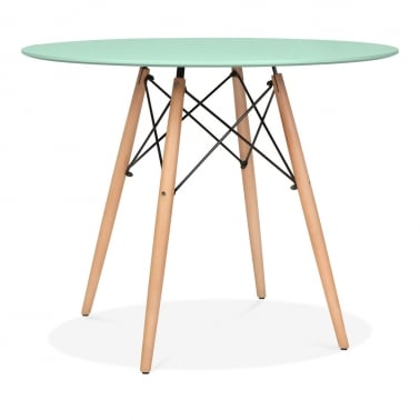 Peppermint DSW Dining Round Table - Diameter 90cm