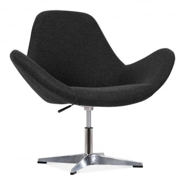 Nova Lounge Chair with Aluminium Leg - Black
