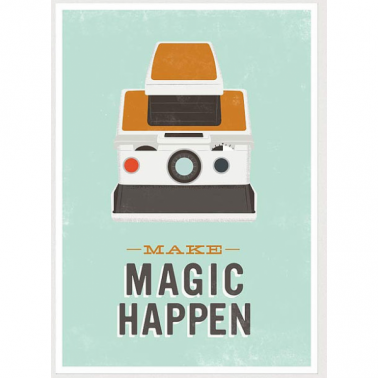 Magic Polaroid Retro Framed Print - Multi-coloured