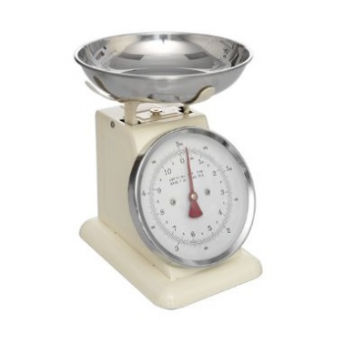 Retro Mechanical Kitchen Weighing Scales, Cream
