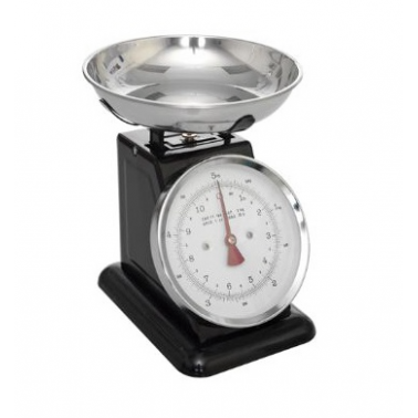 Retro Mechanical Kitchen Weighing Scales, Black
