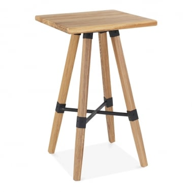 Bastille Square Wooden High Table - Natural