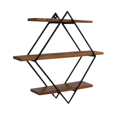 Jasmine Mango Wood Mounted Wall Shelves