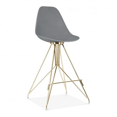 Moda Bar Stool with Backrest CD1 - Grey