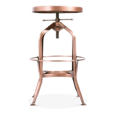 Toledo Style Round Swivel Stool - Copper 64-74cm