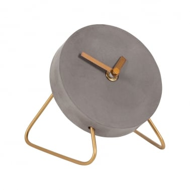 Stone Studio Concrete & Wire Mini Desk Clock - Copper