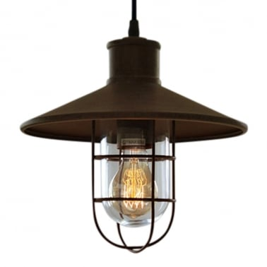Harbour Caged Pendant Light - Rustic