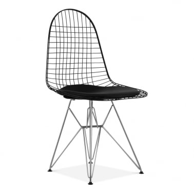 Black DKR Wire Chair