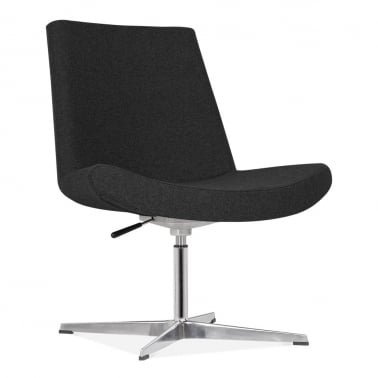 Mod Lounge Chair With Aluminium Leg - Black