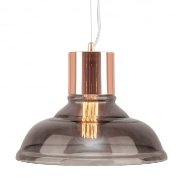 Cologne Glass Pendant Light - Copper / Black