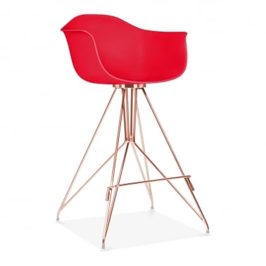 Moda Bar Stool with Armrest CD1 - Red