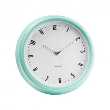 Retro Station Wall Clock - Peppermint