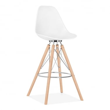 Moda Bar Chair with Backrest CD3 - White