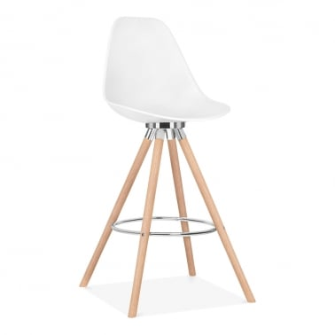 Moda Bar Chair with Backrest CD2 - White - Clearance Sale