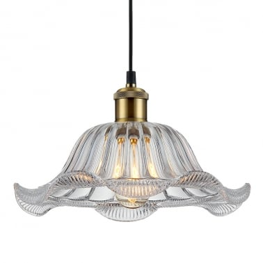 Cuttle Glass Pendant Light - Clear