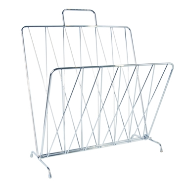 Diamond Raster Magazine Rack - Chrome