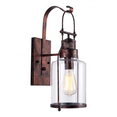 Nock Lantern Wall Light - Rustic