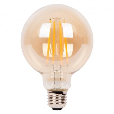Medium Globe Long LED 4W Filament G95 Light Bulb - E27