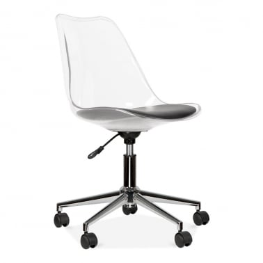 Office Chair With Soft Pad Seat - Transparent