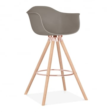 Moda Bar Stool with Armrest CD2 - Warm Grey