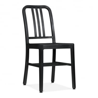 Metal Dining Chair 1006 - Matte Black