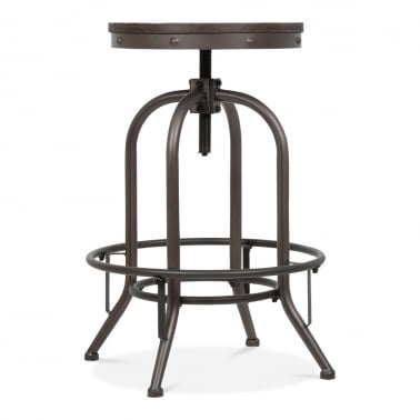 toledo style trax metal swivel bar stool rustic 6375cm