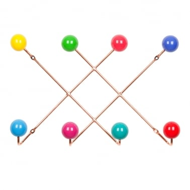Atomic Crisscross Coat Hanger - Copper