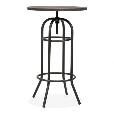 Florence Metal Bar Table - Rustic 109cm