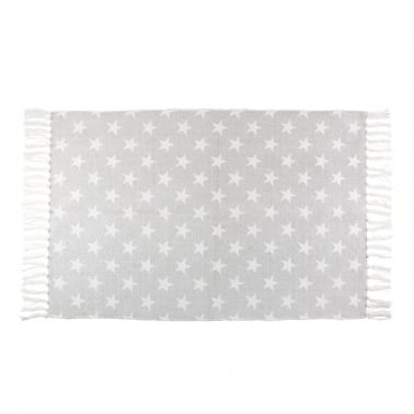 Sass & Belle Nordic Star Cotton Rug with Tassles, Grey