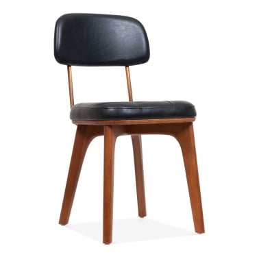Winchester Upholstered Wooden Dining Chair - Black