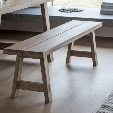 Waldorf Modern Kitchen Dining Bench, Oak