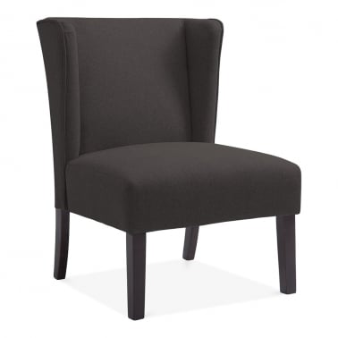 Finsbury Wingback Occasional Chair, Wool Upholstered, Black