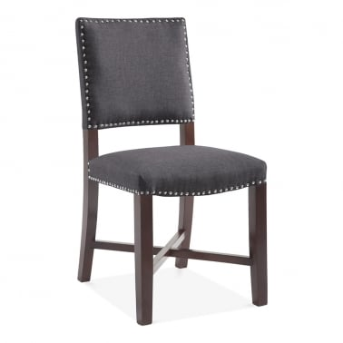 Leicester Dining Chair, Wool Upholstered, Dark Grey