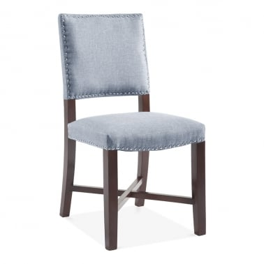 Leicester Dining Chair, Wool Upholstered, Light Blue