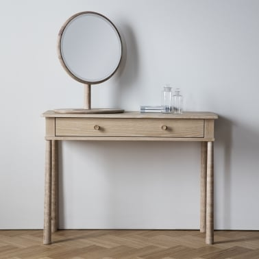 Alpine Modern Console Table, Oak