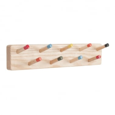 Bocage Mounted Wooden Coat Rack - Multicoloured