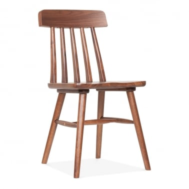 windsor rafter wooden dining chair walnut