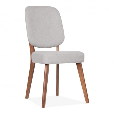 Pinto Upholstered Dining Chair - Walnut / Light Grey